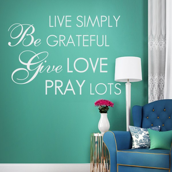 Live Simply, Laugh Often, Love Deeply - Vinyl Wall Art Decal for the Home or Living Room - Inspirational Quote 24x34