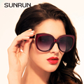 SUNRUN 2016 Novas Mulheres Da Moda óculos de Sol Óculos De Marca De Grife de Alta qualidade Óculos de Sol Com Caixa UV400 Gafas Oculos de sol 9720