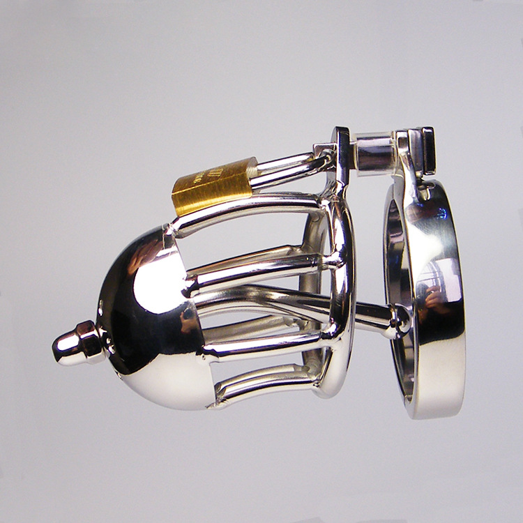 Stainless Steel Male Chastity Device With Metal Urethral Catheter Sounds,Cock Cages,Virginity Lock,Chastity Belt Sex Toy For Man new stainless steel cb6000s device short cock cage with urethral plug catheter male chastity devices sex toy for men penis cages