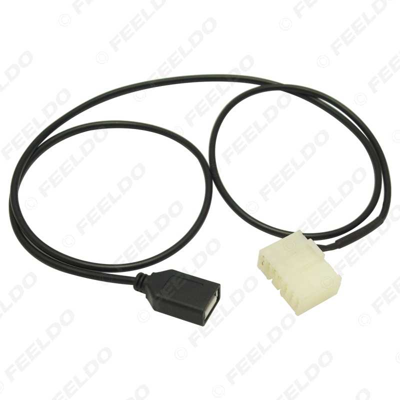 LEEWA Âm Thanh Xe Hơi Nữ Cáp USB Kết Nối Bộ Chuyển Đổi Đối Với BYD F3/F3R/F6/G3/G3R/ g6/L3 CD Máy Nghe Nhạc USB Dây #5664