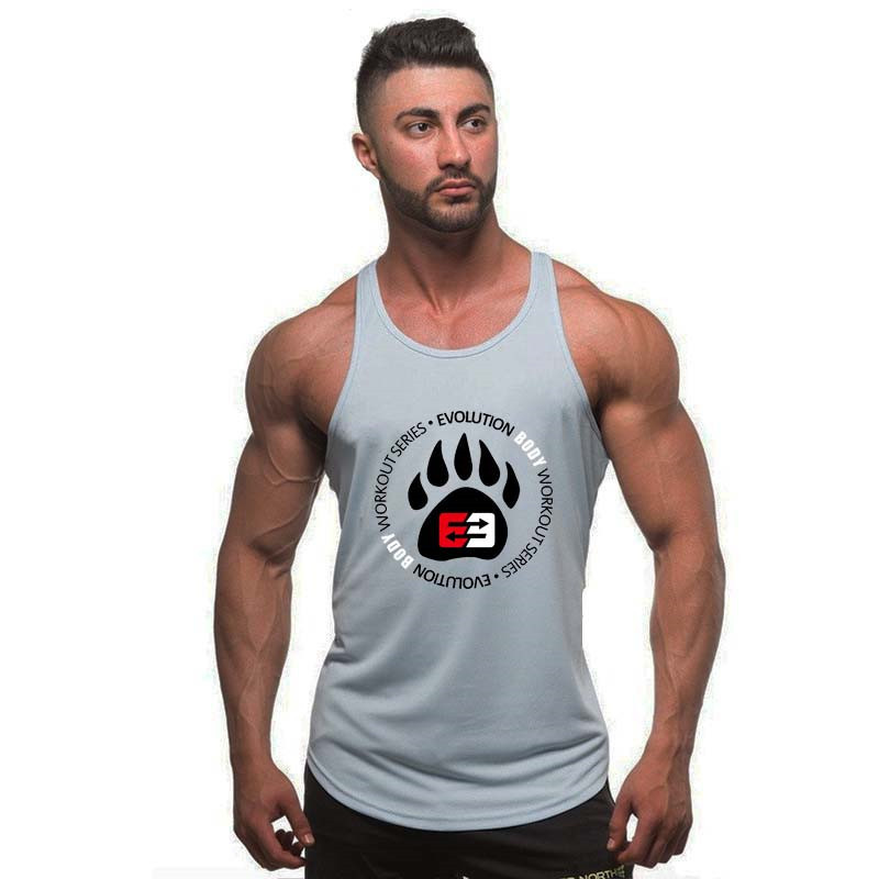 Brand   Tank     Tops   2018 Men Bodybuilding Casual Gyms   Tank   Undershirt Muscle Vest Fashion High Quality Muscle   Tanks