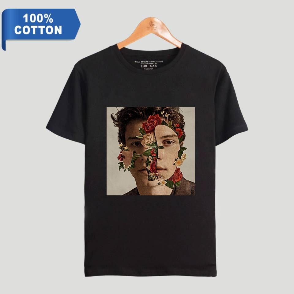980aadd7e BTS Hip Hop Tees Shawn Mendes Casual Harajuku 100% Cotton T-shirts Women  Clothes