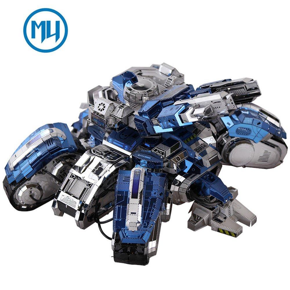 2017 MU 3D Metal Assembling Puzzle Siege Edition Tank Model YM-N025-D DIY 3D Laser Cut Assemble Jigsaw Toys