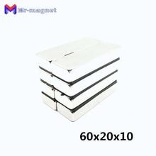10 шт. N35 60x20x10 мм супер сильный редкоземельный постоянный магнит мощный блок с неодимовыми магнитами 60*20*10