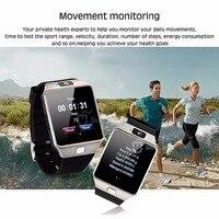 مصنع الجملة لبس الأجهزة DZ09 سمارت ووتش مع كاميرا بطاقة sim andriod smartwatch للرجال النساء هدية الذكية الإلكترونيات