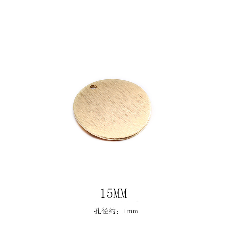 Круглые латунные подвески в виде диска с покрытием 24-каратным золотом, 10 шт., фурнитура для изготовления ювелирных изделий своими руками
