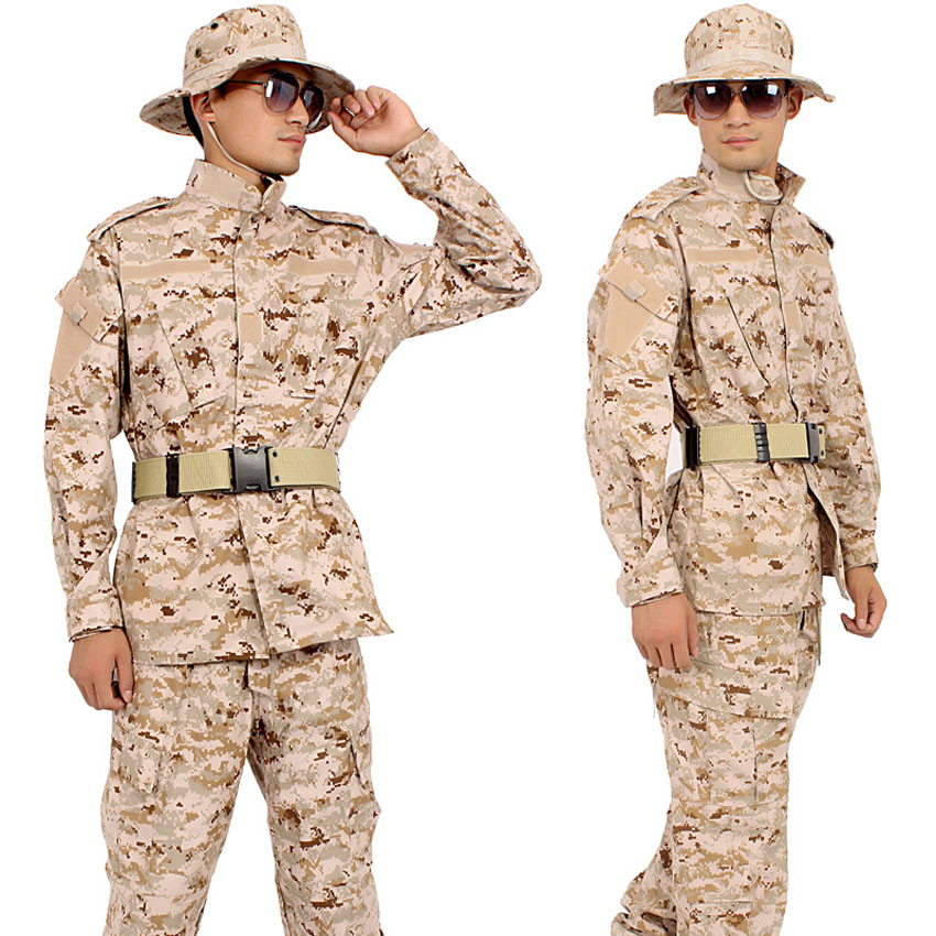 XS-XXL Men Military Uniform WW2 Combat Jacket+trousers Set Army Suit Male Camouflage Tactical Training Hunting Clothing
