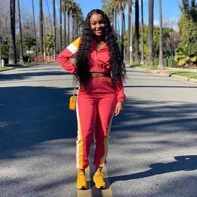 Primavera safari estilo mujeres chándal patchwork cremallera up manga larga top pantalones ajustados trajes dos piezas equipo deportivo 3 colores