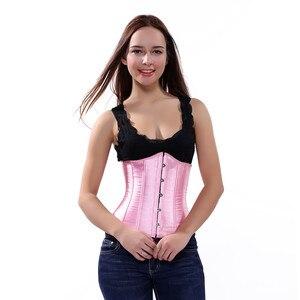 Image 4 - Sapubonva sexy solidna gorset underbust paski czarny różowy fioletowy gorset plus rozmiar dla nowożeńców, gorsety, i, gorsety, bez rękawów top