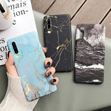 Classical Cracked Marble Case For Huawei P20 P30 Pro Lite Mate 20 Pro Honor 10 Lite P Smart 2019 Full Body Hard PC Back Cover(China)