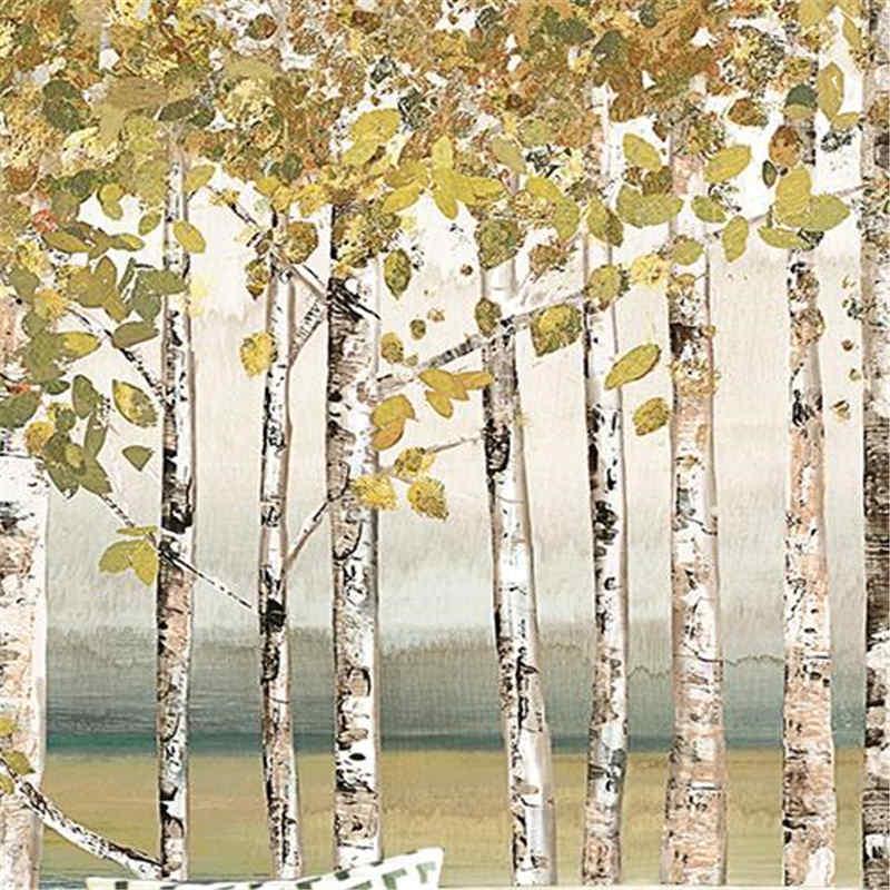 Birch Forest Tree Murals 3D Custom Photo Wallpapers Nature Landscape Woods Wallpapers for Walls 3D for Living Room TV Home Decor shinehome european roman pillar angel soft roll wallpaper for 3d rooms walls wallpapers for 3 d living room wall paper murals