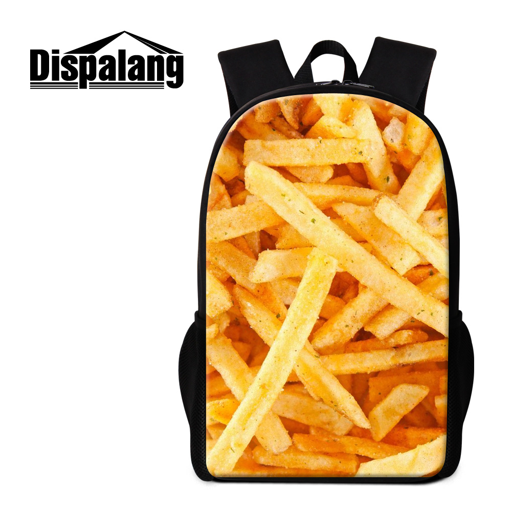 Dispalang delicious chips backpack for teenage girls children practical large school bags womens travel rucksack female bagpack