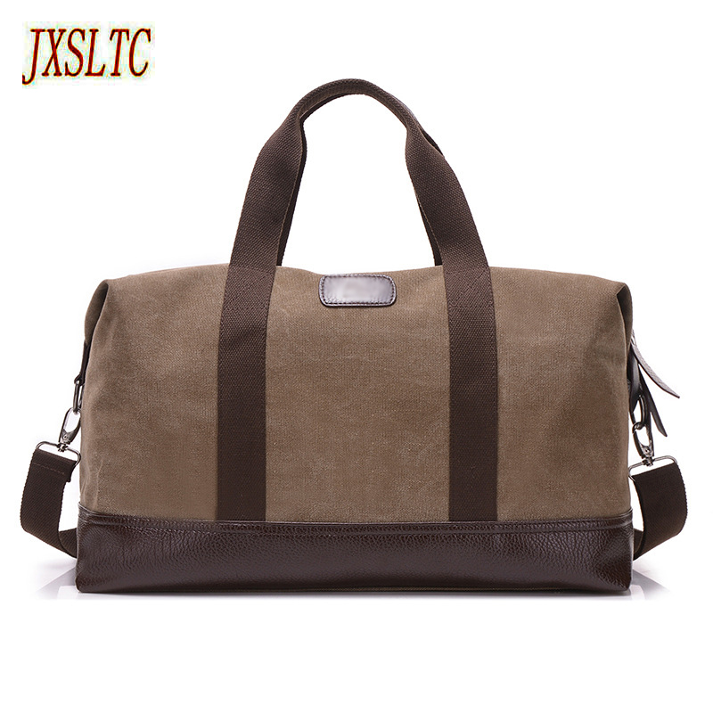 JXSLTC Canvas Leather Men Travel Bags Carry on Luggage Bags Men Duffel Bags Travel Tote Large capacity Weekend Bag Overnight markroyal canvas men travel bags carry on luggage bags men duffel bag travel tote large weekend bag overnight high capacity