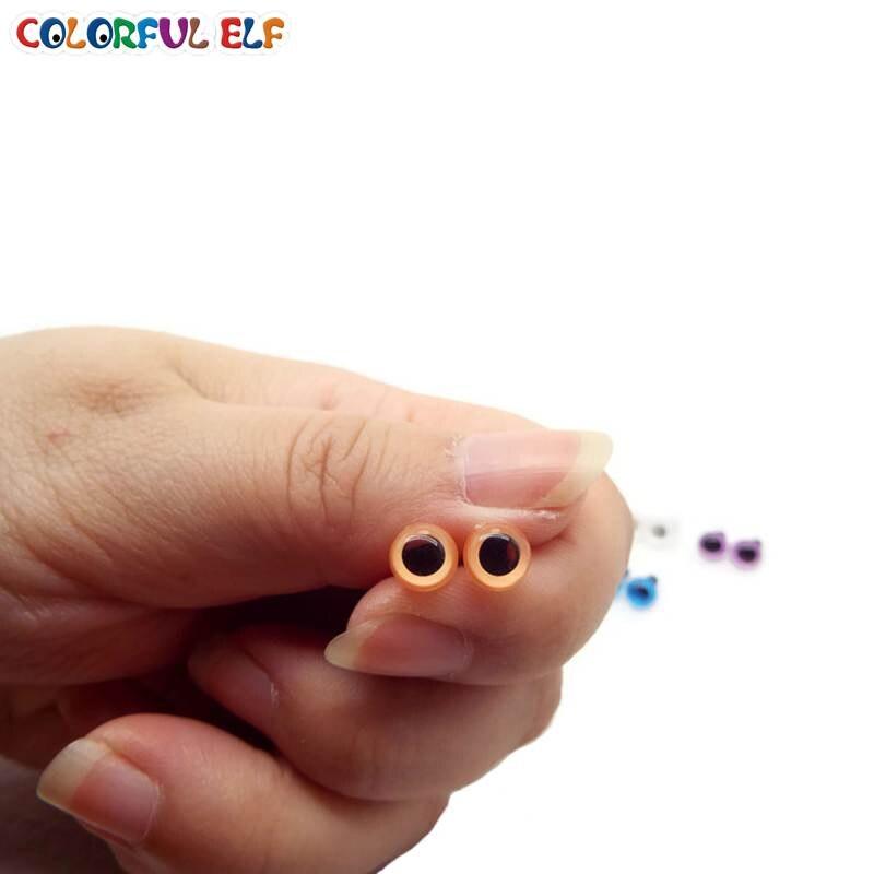 geen verzendkosten!!! 100 stks / partij 6mm pop ogen / Kleurrijke - Poppen en knuffels - Foto 4