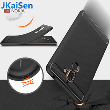 все цены на Phone Case For Nokia 2.1 3.1 5.1 6.1 7.1 Plus Cover Carbon Fiber Shockproof Soft TPU Silicone Back Cover For Nokia 1 2 3 5 6 7 8