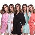 Новый Стиль женщин Хлопка Пижамы Summer Lounge Короткие Ночная Рубашка Кимоно Халат Сексуальные Невесты Свадебное Халаты Халат 010708