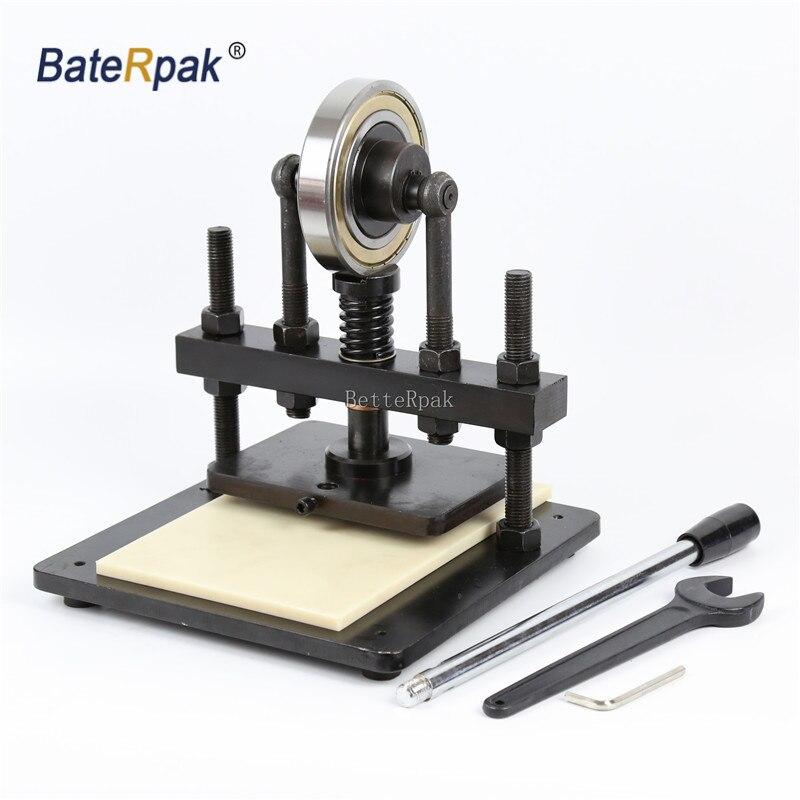 Machine d'échantillonnage de pression de main de BateRpak de 20x14 cm, papier photo, coupeur de moule de feuille de PVC/EVA, moule en cuir manuel/machine de découpe