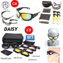 Hot Sale Military Sunglasses UV Protection C5 C6 Polarized Tactical Goggles Men Hunting Shooting Outdoor Sunglasses