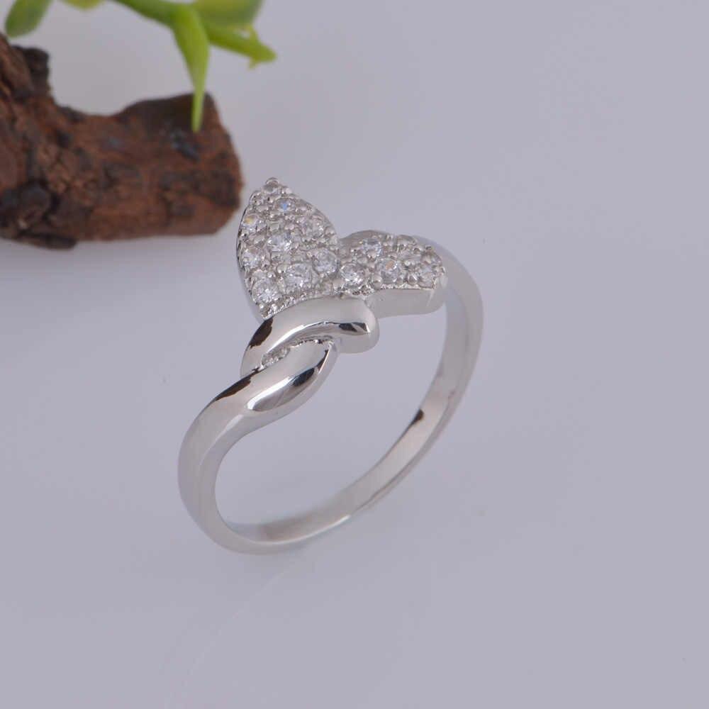 טבעת כסף תכשיטי ייחודי עיצוב מגוון רחב של צבעים J330 לנשים cz חתונה