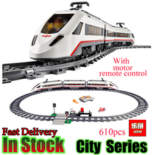Lepin 02010 Creator Technic High speed Passenger Train Remote control Trucks Set Building Blocks Bricks figures