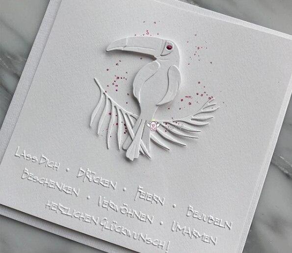 Toucan Bird Leaf Metal Cutting Dies Cut Die Mold Decoration Scrapbook Card