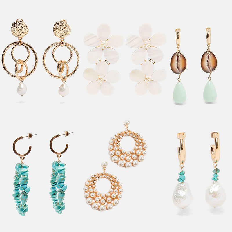 JUST FEEL 2019 New Bohemian ZA Earrings for Women Fashion Brand Design Wholesale Wedding Glass Crystal Drop Dangle Earring Girl