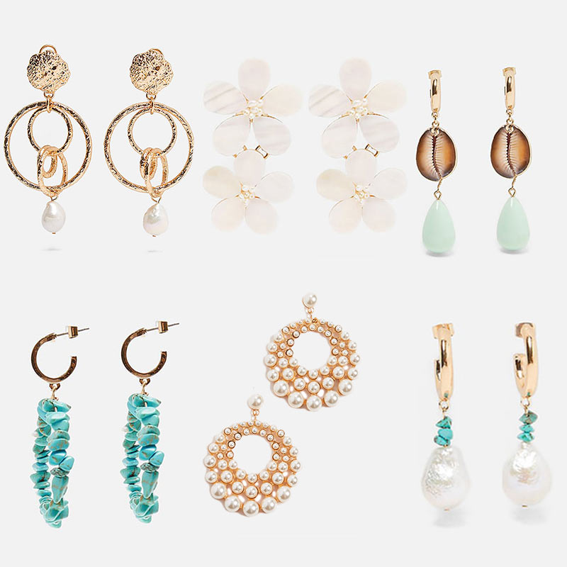 JUST FEEL 2019 New Bohemian ZA Earrings for Women Fashion Brand Design Wholesale Wedding Glass Crystal Drop Dangle Earring Girl