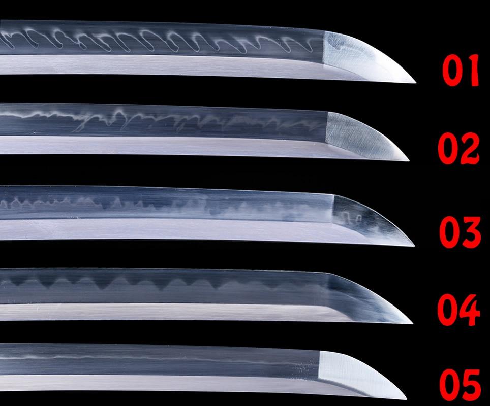 일본 사무라이 카타나/와키 자시/탄토 소드 용 리얼 스틸 블레이드 클레이 템퍼 드 풀 탱 샤프 1095/t10 스틸 소재-에서도검부터 홈 & 가든 의  그룹 1