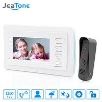 JeaTone 7 Inch Video Door Phone Intercom Doorbell System Home Security Waterproof Night Vison IR Call