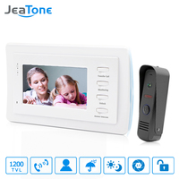 JeaTone 7 Inch Video Door Phone Intercom Doorbell System Home Security Waterproof Night Vison IR Call