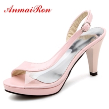 ANMAIRON New Style  Basic  Casual  High Heels Sandals Women  Zandalias De Verano Mujer Big Size 34-43 LY315
