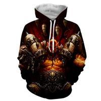 2018 NEW FASHION MEN Hellscream Powerful warrior HOODIE 3D Hoodie Sweatshirts Pullovers Autumn Tracksuit Winter Loose Thin Hoody