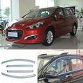4 unids Nueva Ahumado Claro Ventana Vent Shade Visor Carenados Para Peugeot 308