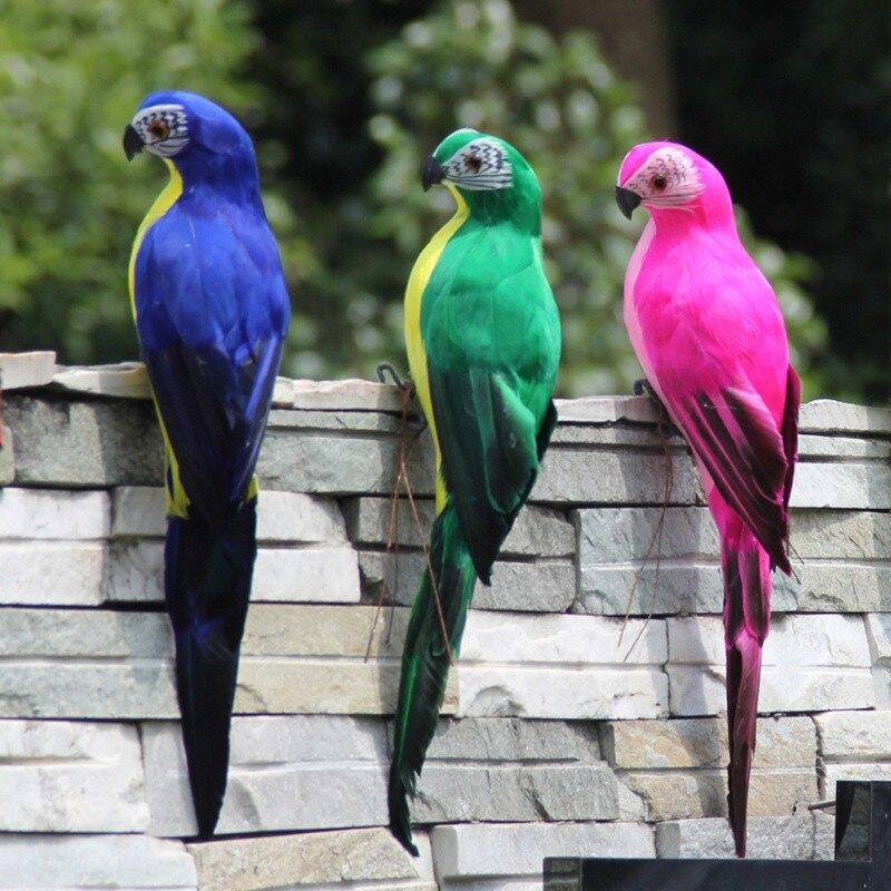 Ручной работы моделирование попугай сад Декор Творческий перо газон пена фигурка орнамент животное птица забор птица реквизит украшения
