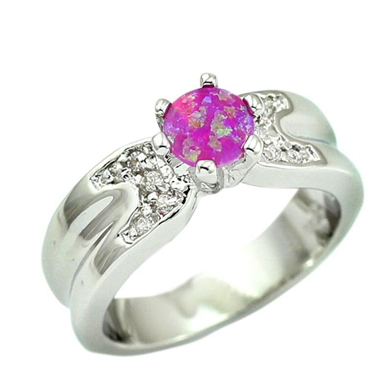 Ausdrucksvoll Haimis Rosa Feuer Opal Cz Frauen Klaue Inay Mode Schmuck Opal Ring Größe 6,5 7 8 20 P Halten Sie Die Ganze Zeit Fit
