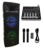 STARAUDIO Pro PA DJ Dual 15 Active 5000W Powered Stage USB SD FM BT Speaker W