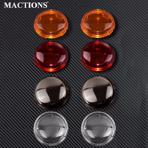 MACTIONS Indicator Lens Cover For Harley Turn Signal Light Cover For Harley Dyna Softail Electra Glide Road King Sportster 883(China)