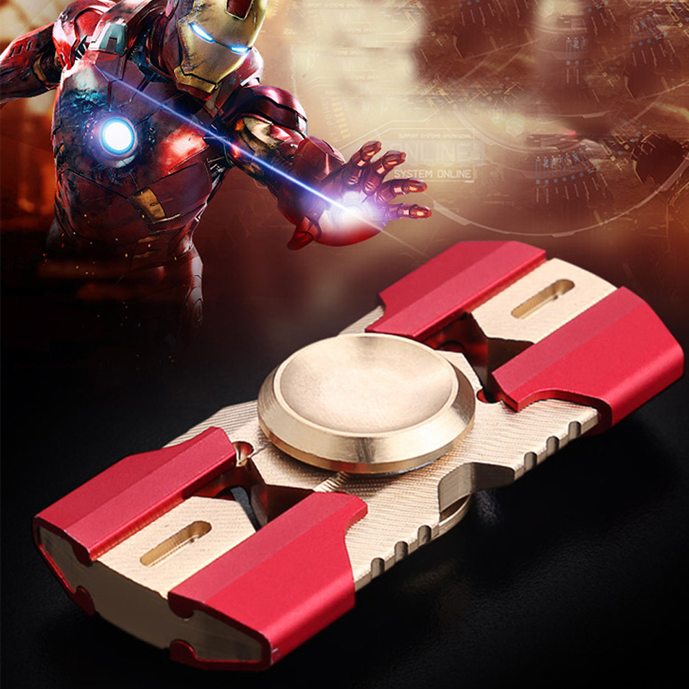 High Quality Avengers Ironman Armor Fidget Spinner Toys With Doubel Metal Alumunium Captain America Bear Desgin Finger Hand Spiner In From