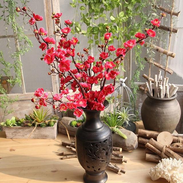 silk fake artificial flowers plum blossom stamens artificial plants Silk Fake Plants