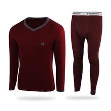 Winter Mens Velvet Thick Thermal Underwear Sets Men Soft Cotton Mens Thick Warm Long
