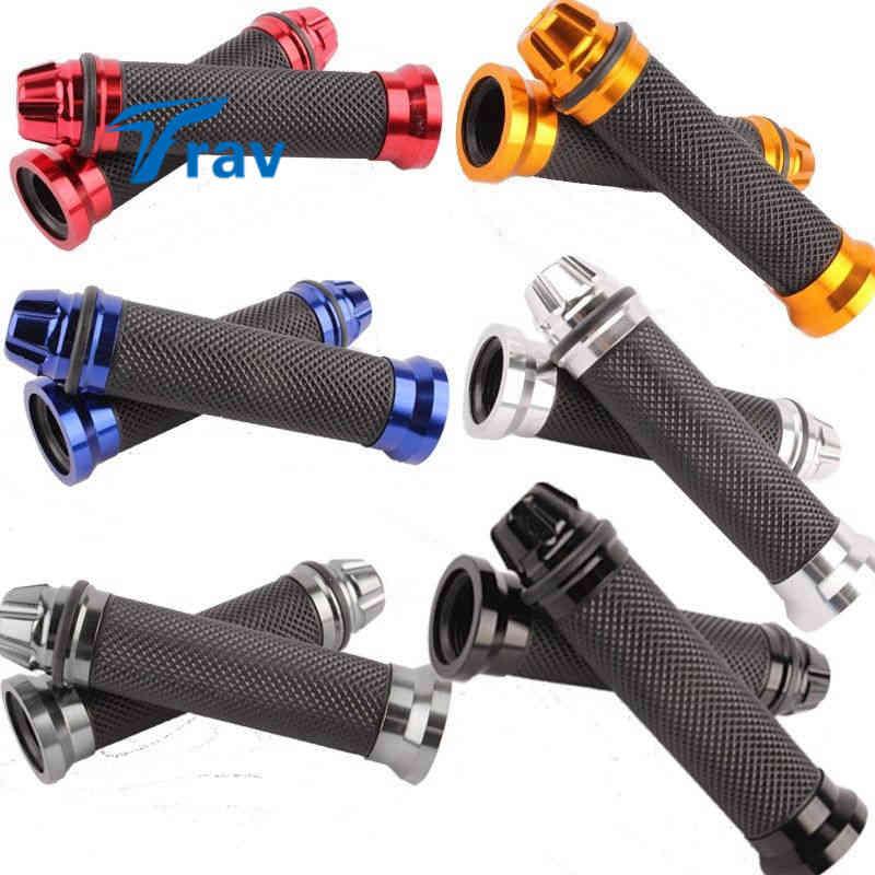 7/8 Handlebar Grips Motorcycle Aluminum Rubber Gel Hand Handle Grips Dirt Bike Pitbike Motorbike Handlebar For Harley Y