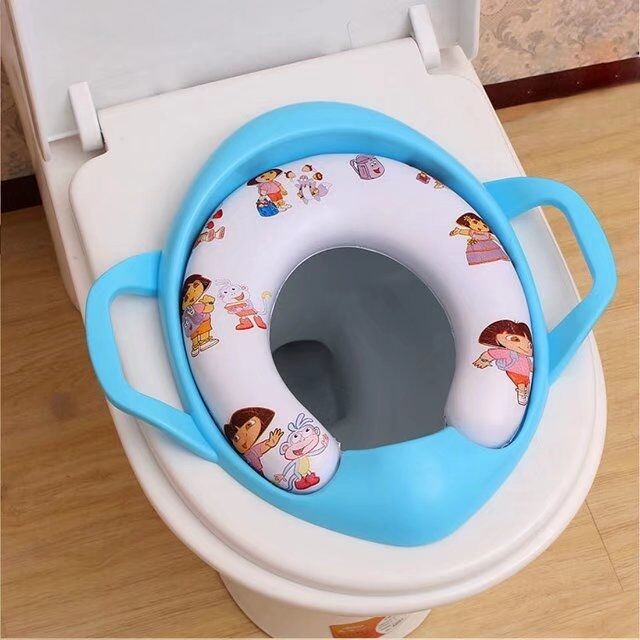 Baby Soft Toilet Training Seat Cushion Child Seat With Handles Baby Toilet Seats Pedestal Pan FREE SHIPPING Pattern Random