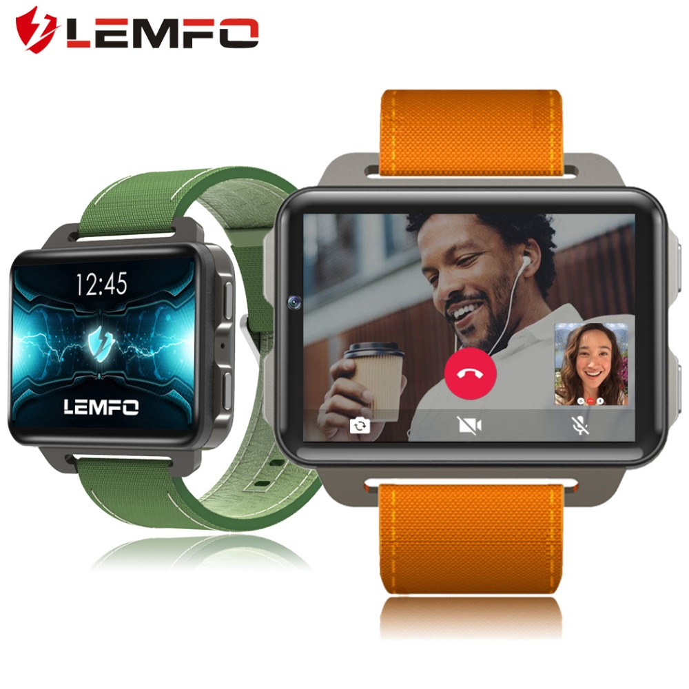 Best buy ) }}LEMFO 2018 New Arrival LEM4 Pro Smart Watch Android 5.1 Supper Big Screen