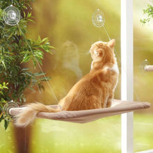 Cute Pet Hanging Bed Bearing 20kg Cat Sunny Seat Window Mount Hammock Comfortable Sucker Hanger Removable L11