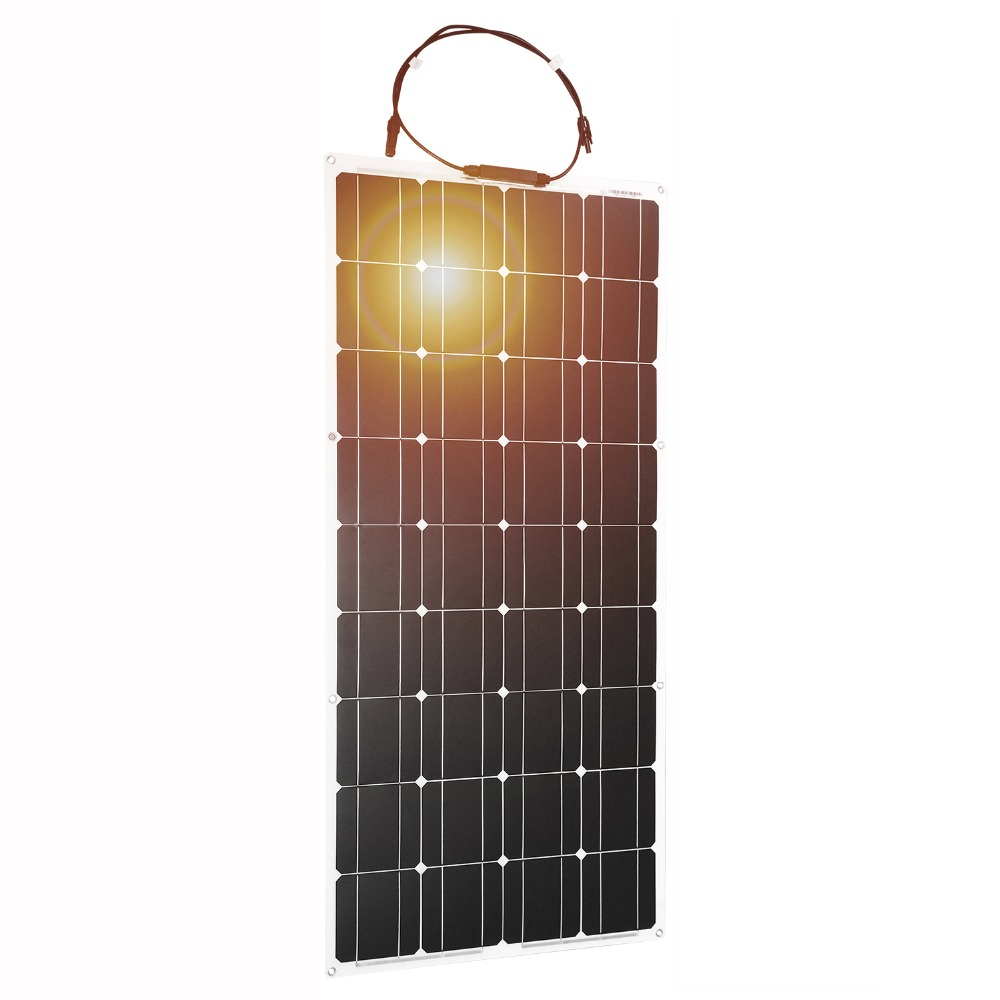 Dokio 12V 100W panneau solaire Flexible monocristallin pour voiture/bateau panneau Flexible de haute qualité solaire 100w chine-in Cellules photovoltaïques from Electronique    1