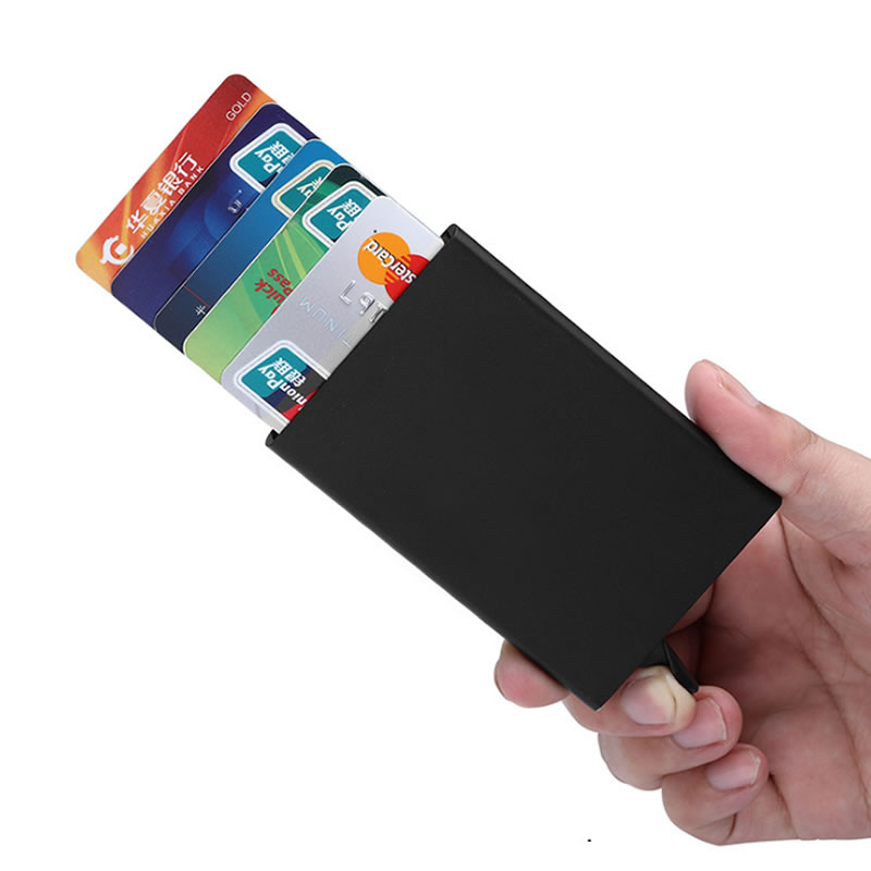 Hot Sale Fashion Function Aluminum Card Case Automatic Pop Up