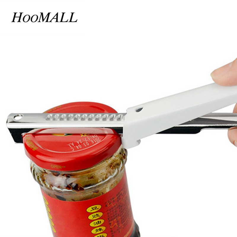 Hoomall 1Pc Home Manual Professional Stainless Steel Jar Opener Adjustable Can Bottle Opener Kitchen Tool Accessories
