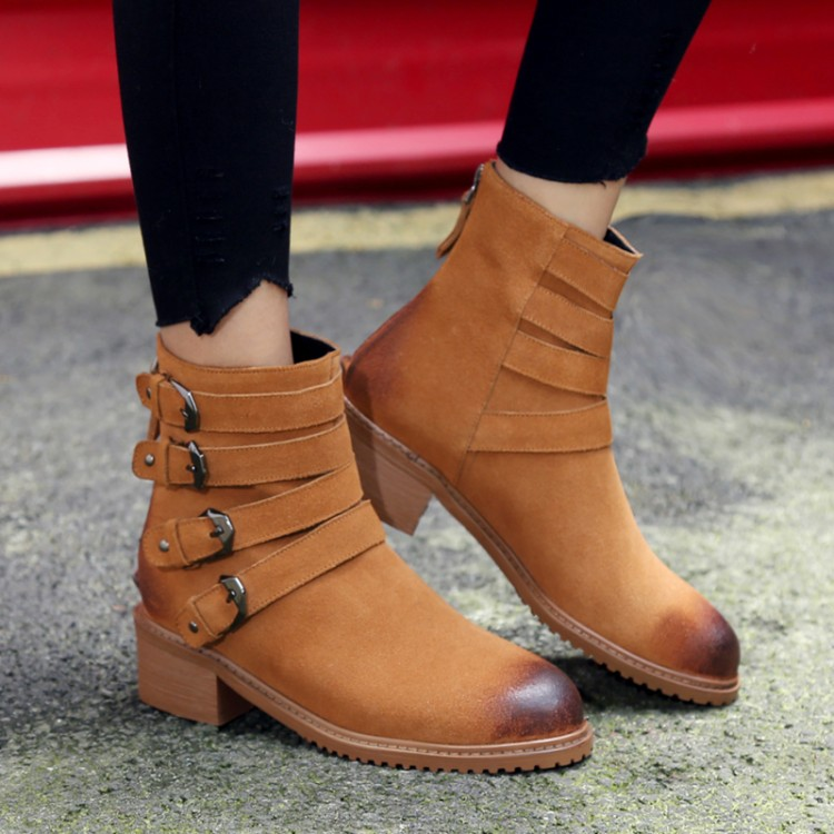 ФОТО women shoes 34-39 shoes 2016 fashion casual genuine leather vintage boots