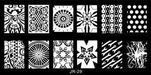 Image 5 - Plantillas para estampación de uñas JR, 30 Uds., de acero inoxidable, 30 estilos de imágenes, herramienta para estampado de uñas Nail Art para manicura