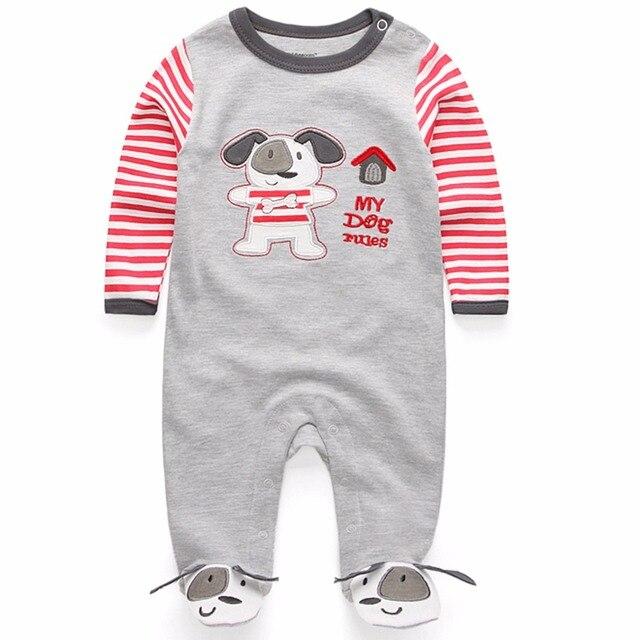 Новый 2017 милый ребенок детский комбинезон комбинезон удобная одежда для новорожденных 0-9 м детская одежда, новорожденный ребенок одежда